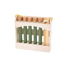 display 5 tubes de 20 encens japonais fleurs thai+ porte encens en bambou
