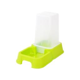 distributeur d'eau + croquettes 1,5l pour chat coloris vert anis
