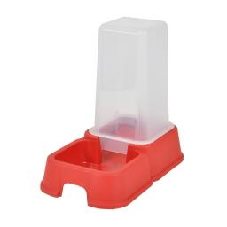 distributeur d'eau + croquettes 3,5l pour animaux coloris rouge