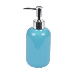 distributeur de savon ceramique vitamine bleu ocean