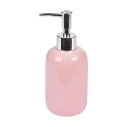 distributeur de savon ceramique vitamine rose poudré