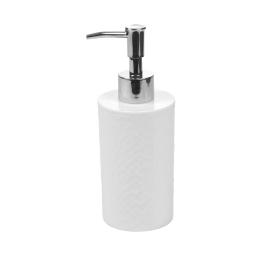 distributeur de savon plastique martelé urban blanc