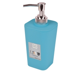 Distributeur savon (0) 7.3 x 17.5 cm plastique vitamine  effet soft to Bleu ocean