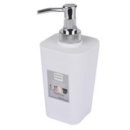 Distributeur savon (0) 7.3 x 17.5 cm plastique vitamine  effet soft touch Blanc