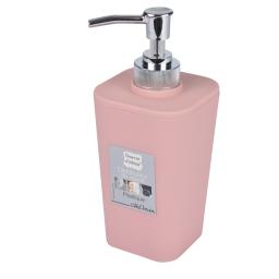 Distributeur savon effet soft touch rose poudré douceur d'interieur theme vitami Rose poudre