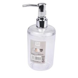 distributeur savon plastique translucide vitamine blanc