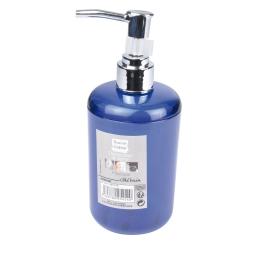 distributeur savon plastique translucide vitamine bleu roi