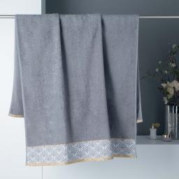 Drap de bain 90 x 150 cm absorbant éponge 450gr/m²  goldy Gris/or