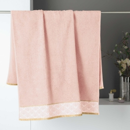 Drap de bain 90 x 150 cm absorbant éponge 450gr/m²  goldy Rose/or