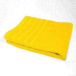 Drap de bain 90 x 150 cm eponge unie vitamine Jaune
