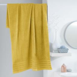 Drap de bain 90 x 150 cm eponge unie vitamine Miel