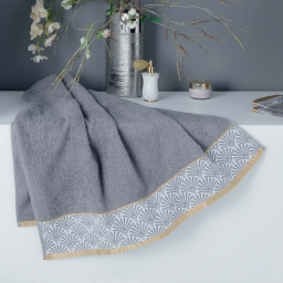 Drap de douche 70 x 130 cm absorbant goldy Gris/or