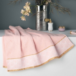 Drap de douche 70 x 130 cm absorbant goldy Rose/or