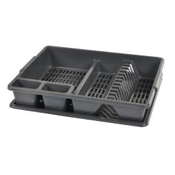 egouttoir vaisselle+plateau 47*39*h10.5cm - anthracite