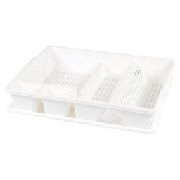 egouttoir vaisselle+plateau 47*39*h10.5cm - blanc