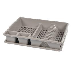 egouttoir vaisselle+plateau 47*39*h10.5cm - taupe