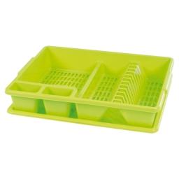 egouttoir vaisselle+plateau 47*39*h10.5cm - vert