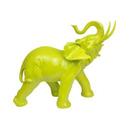 elephant en polyresine vert anis h.30.5*l.33.5*p.16cm