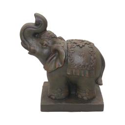 elephant magnesie 33*18*h40cm chocolat