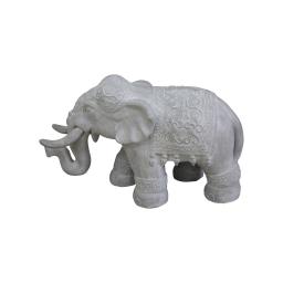 elephant magnesie 65*26*h40cm blanc