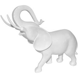 elephant polyresine 35.5*15*h37cm blanc