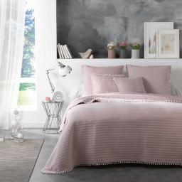 Ensemble couvre lit matelassé 180x220 cm +1 housse de coussin 45x45 cm dorina Nude