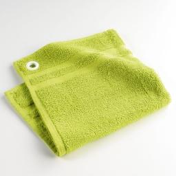 Essuie-main 50 x 50 cm eponge unie petits plats Vert