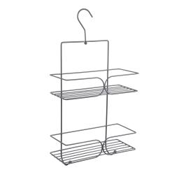 etagere de douche a suspendre 2 niveaux metal anthracite