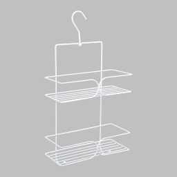 etagere de douche a suspendre 2 niveaux metal blanc