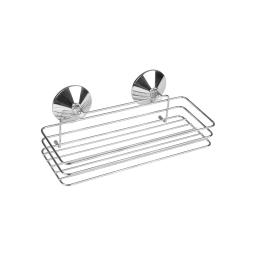 etagere de douche a ventouses fortes metal chromé