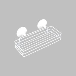etagere de douche a ventouses fortes metal urban blanc