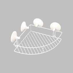 etagere de douche d'angle a ventouses fortes metal urban blanc