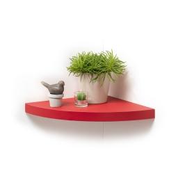 etagere flottante d'angle rouge 35*35*3.4cm