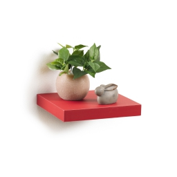 etagere flottante rouge l25*22.8*3.4cm