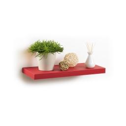 etagere flottante rouge l50*22.8*3.4cm