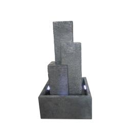 fontaine city 3 colonnes 16 leds 38*38*h69cm