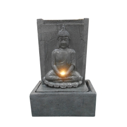 fontaine plaque bouddha assis led 41.5*22*h60cm