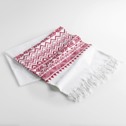 Fouta 100 x 200 cm coton imprime lacanau Rouge