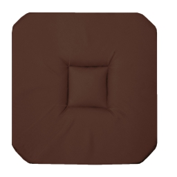 Galette 4 rabats 36 x 36 x 3.5 cm coton uni panama Choco
