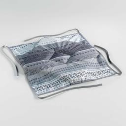 Galette 4 rabats 36 x 36 x 3.5 cm polyester imprime chacana Gris