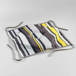 Galette 4 rabats 36 x 36 x 3.5 cm polyester imprime marina Jaune
