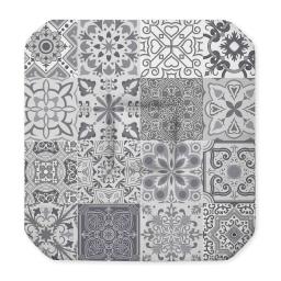 Galette 4 rabats 36 x 36 x 3.5 cm polyester imprime persane Gris