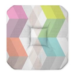 Galette 4 rabats 36 x 36 x 3.5 cm polyester imprime ultragraphic Pastel