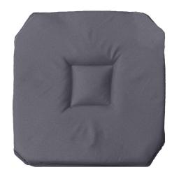 Galette 4 rabats 36 x 36 x 3.5 cm polyester uni essentiel Beton