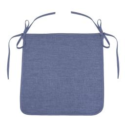 Galette 40 x 40 x 3.5 cm chambray uni newton Bleu