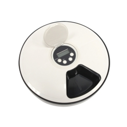 Gamelle programmable 6 compartiments abs ø30*5cm Blanc