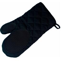 Gant 30 x 18 cm polycoton+silicone cuistot Noir