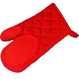 Gant 30 x 18 cm polycoton+silicone cuistot Rouge