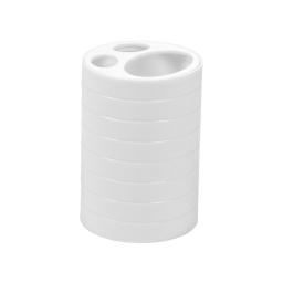 gobelet brosse a dent plastique strié urban blanc