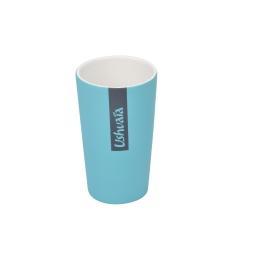 gobelet ceramique effet soft touch theme bali bleu - licence ushuaia